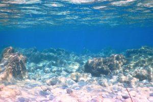 Unterwasserlandschaft mit Felsen