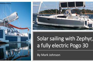 Pogo 30 Zephyr mit Solarpaneelen